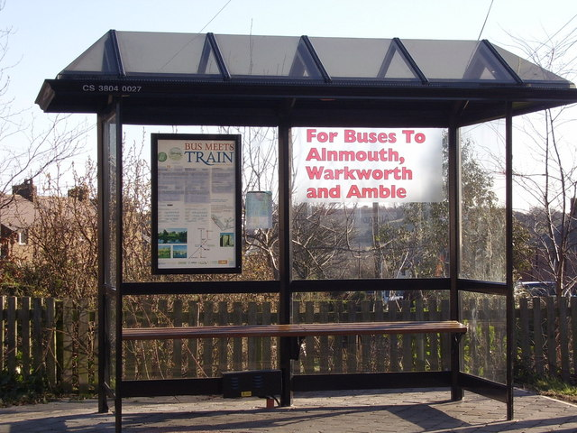 Bus Stop Outside Alnmouth Station