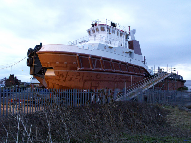 Nearly Completed Tug at Paull Shipyard