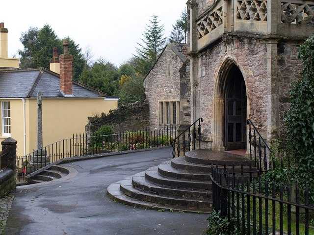 Church porch and steps at Axbridge