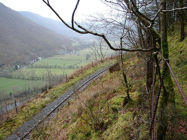 The Vale of Rheidol Railway above Cwm Rheidol
