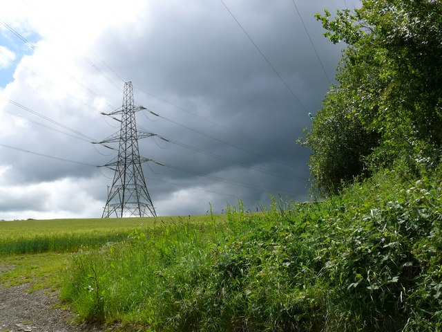 Pylon between Stoney Cross & Woodtown