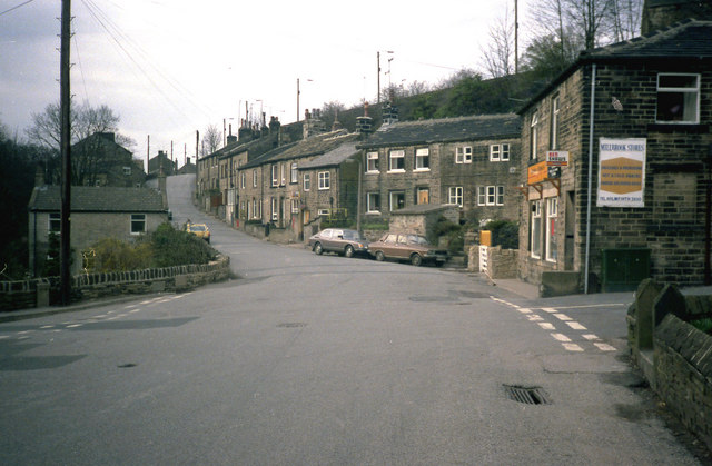 A crossroads at Jackson Bridge, Yorkshire
