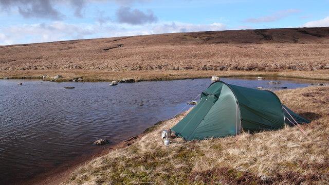 Campsite at Loch nan Amhaichean