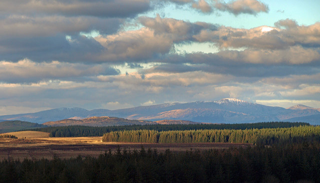 Looking over Annabaglish Moss to the Galloway Hills
