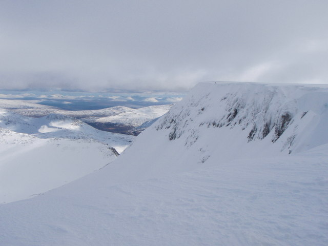 East face on Aonach Mor