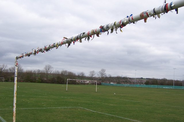 Festooned Goal Post-Wicor Recreation Ground