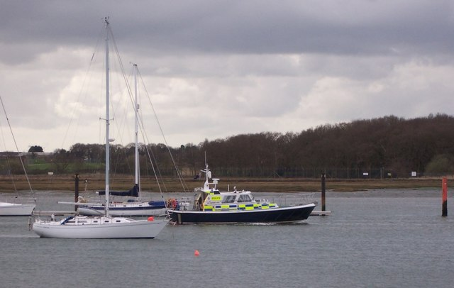 Police Boat off Foxbury Point