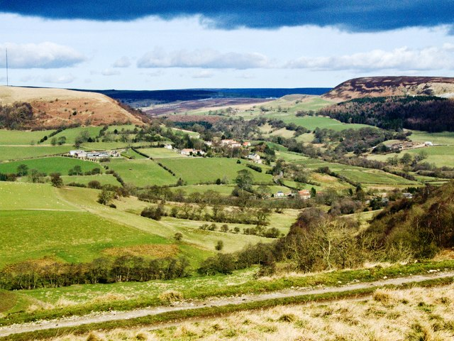 Murton Bank Through Hawnby To North York Moors