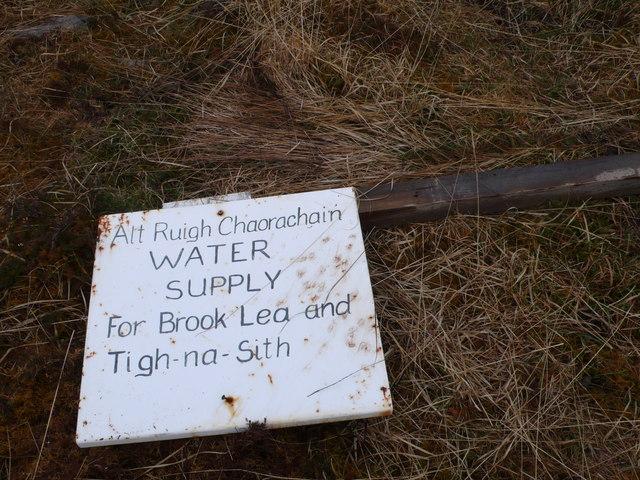 Allt Ruigh Chaorachain Water Supply