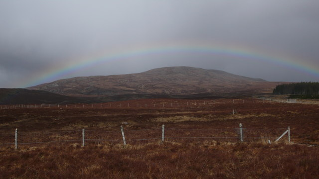 Stock fence on Meall a Bhaird