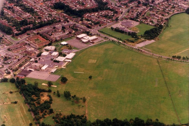 Bulmershe School from the air