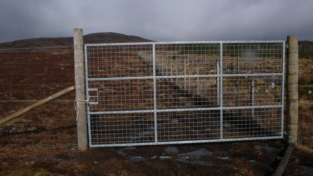 Gate,deer fence on Meall a Bhaird