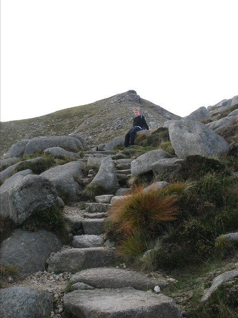 Climbing towards the top of the GoatFell