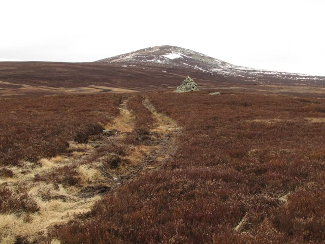 Cairn by Mount Keen path