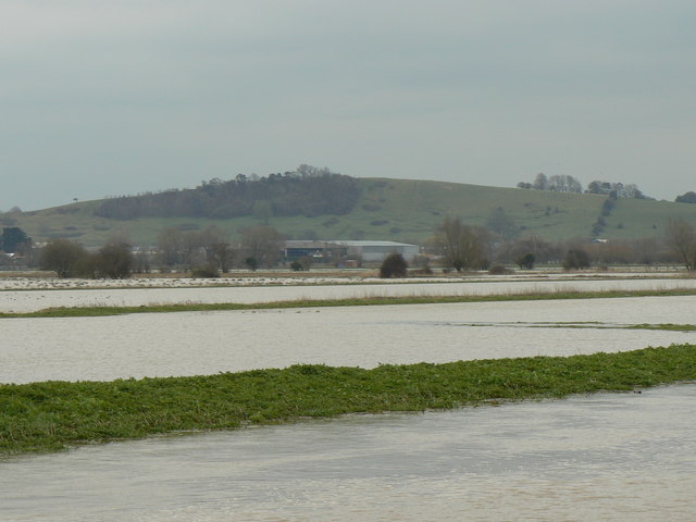 Flooded fields by the River Brue