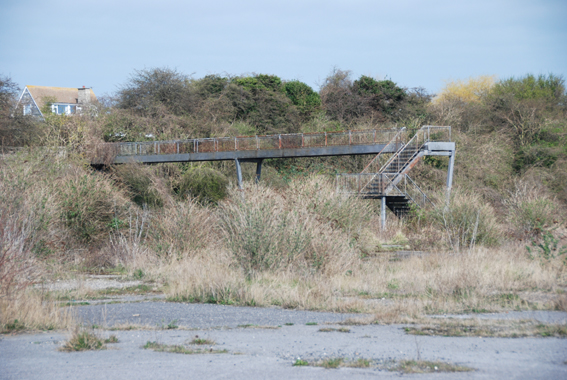 Derelict  walkway, Pegwell Bay, Thanet, Kent