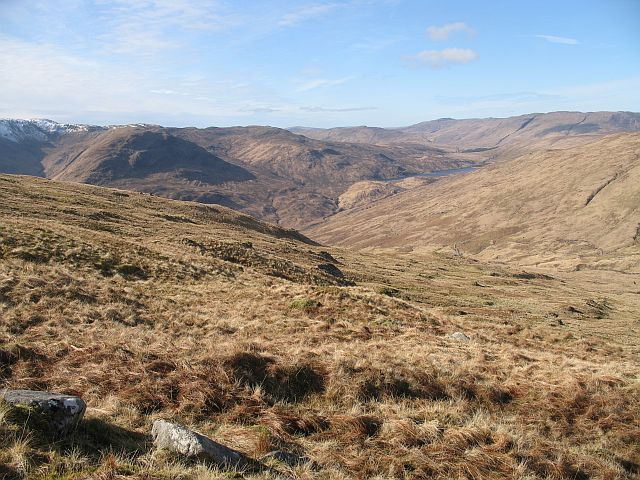 Grassy western slopes of Beinn na Cille