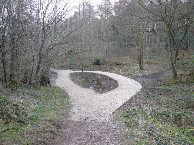 Linacre Woods - Recent change to Footpath