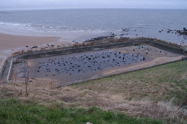 Abandoned baths, Tynemouth