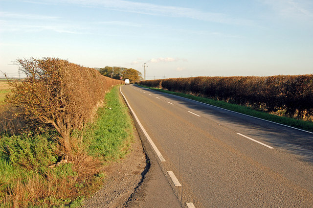 The B1206 near Beaumontcote Farm