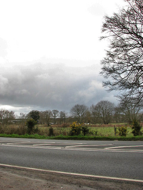 View west across the A140 (Cromer Road)