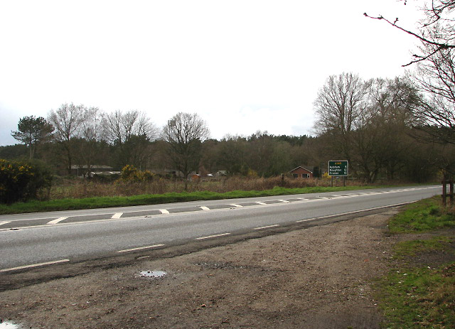 Looking across the A140