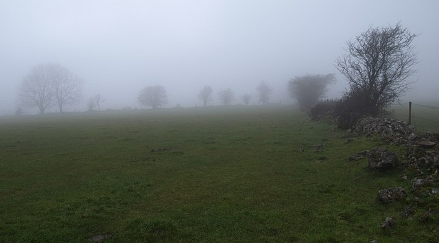 In cloud on the Mendips