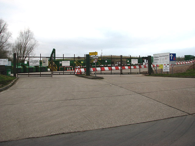 Entrance to Recycling Centre and Landfill Site