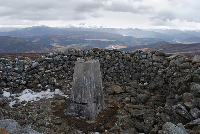 Trig point on Geallaig Hill