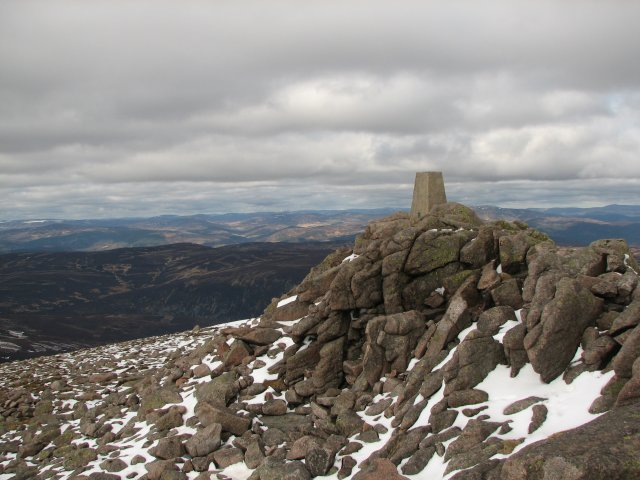 Trig point, Mount Keen