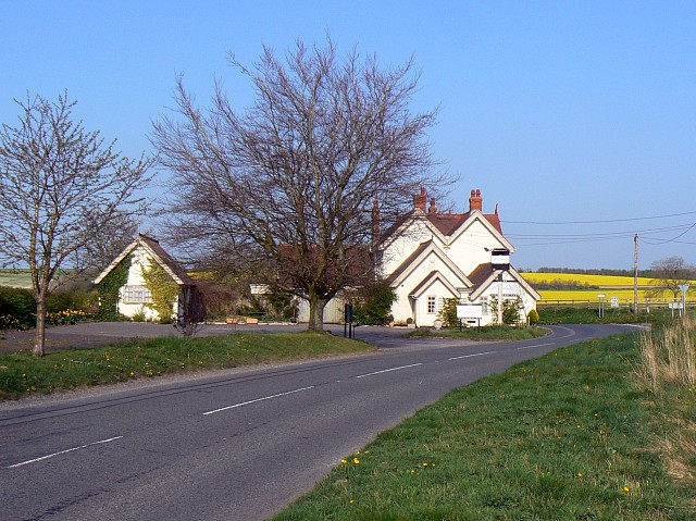 A338 at its junction with a Roman road, near Marten