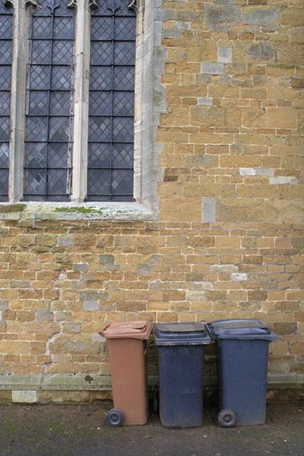 Even a church has rubbish