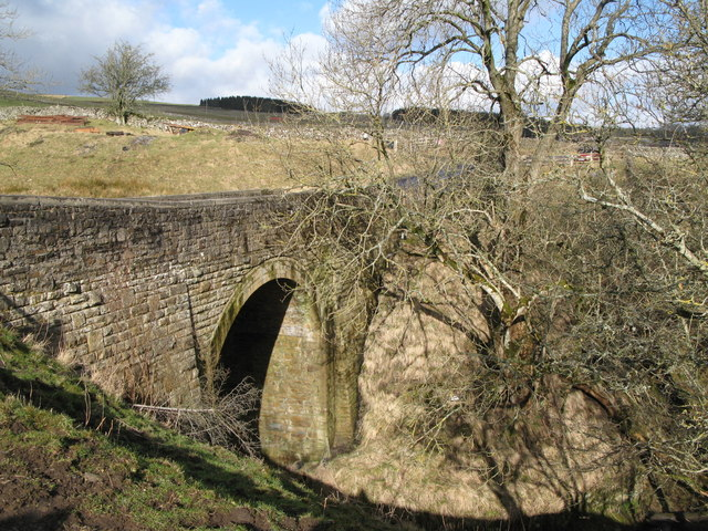 Bridge on the minor road between Rookhope and Eastgate at Sunderland Cleugh