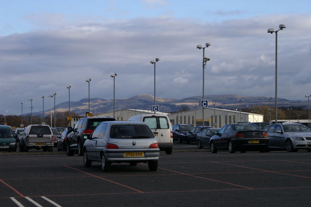 Long term car park at Edinburgh airport
