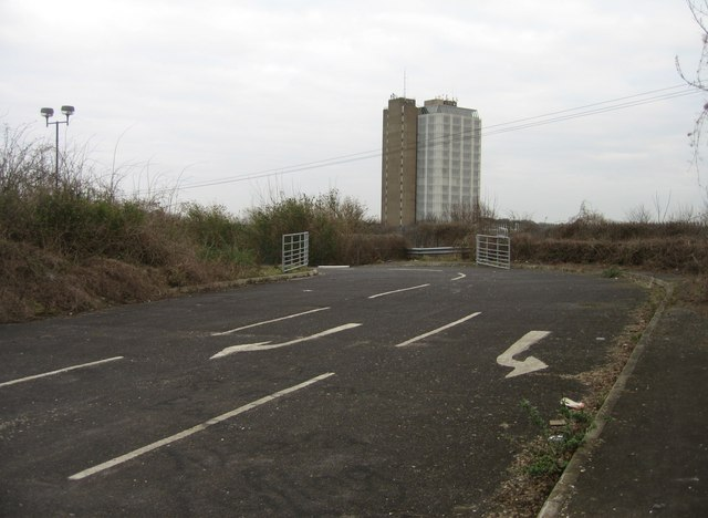 AA tower & entrance to defunct Park & Ride