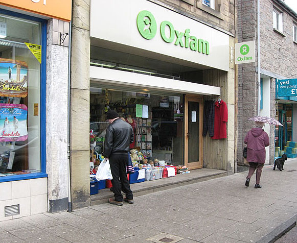 The Oxfam shop in Galashiels