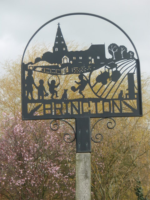 Village sign, Brington