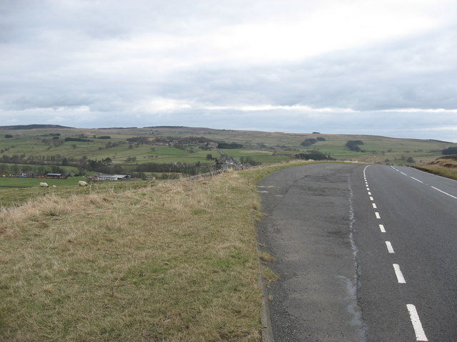 Lay-by north of West Woodburn