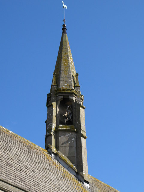 The spire of All Saints Church, Eastgate