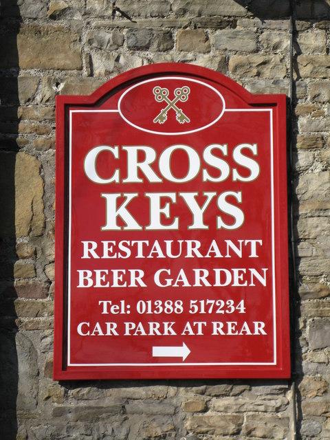 Sign for the Cross Keys
