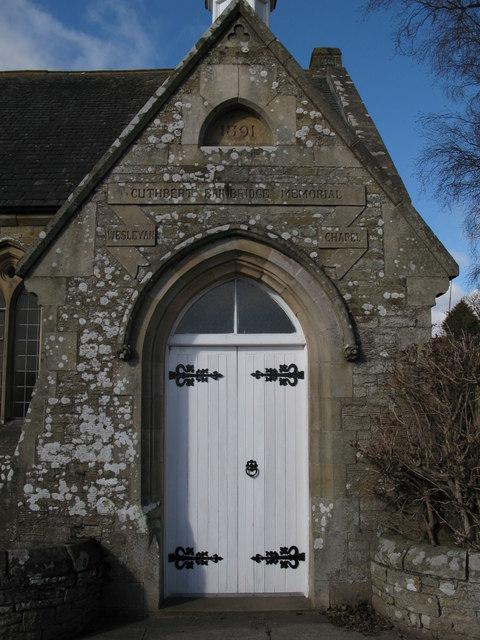 Porch of the Cuthbert Bainbridge Memorial Wesleyan Chapel