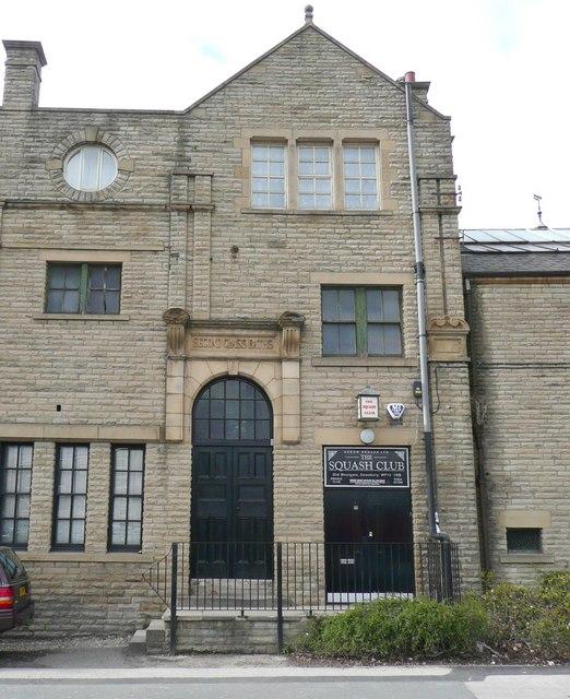 Squash club entrance, Old Westgate, Dewsbury