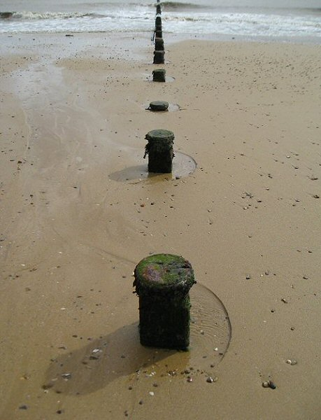 Remains of old groyne