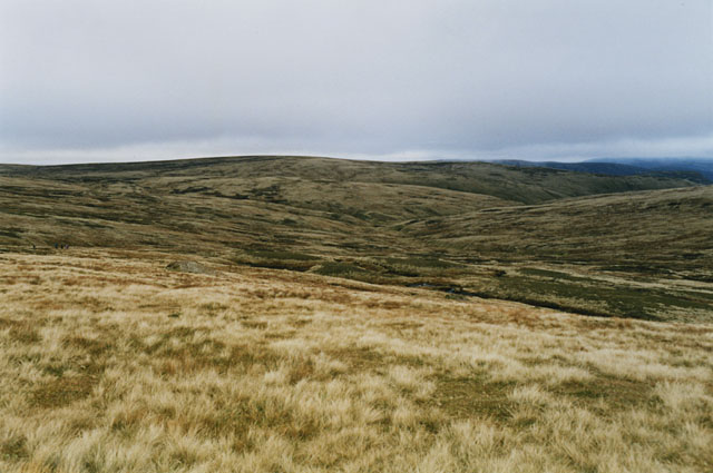 Moorland around the head of the Allt a' Chama Choire