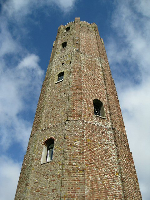 Looking up at Naze Tower