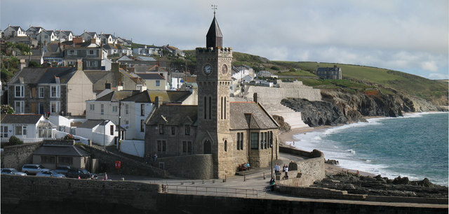 The Clock Tower at Porthleven Harbour