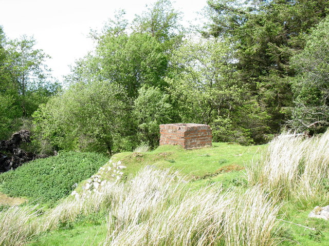A former air raid shelter at the corner of the woodland