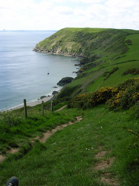 The South West Coast Footpath above Lantic Bay