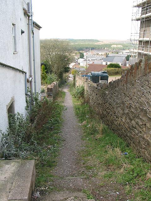 Alley near the Baptist Church