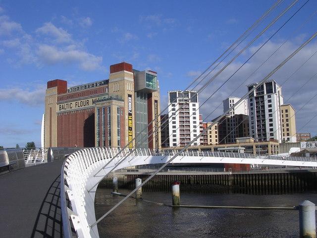 The Baltic Centre & the Millennium Footbridge